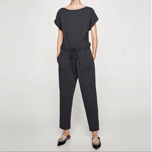 Zara gray jumpsuit size small